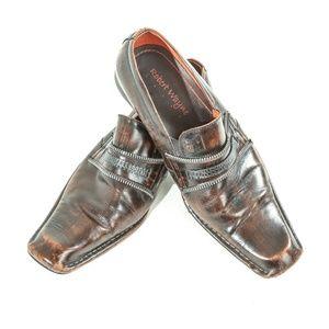 Robert Wayne Martini Leather Square Toe Loafers